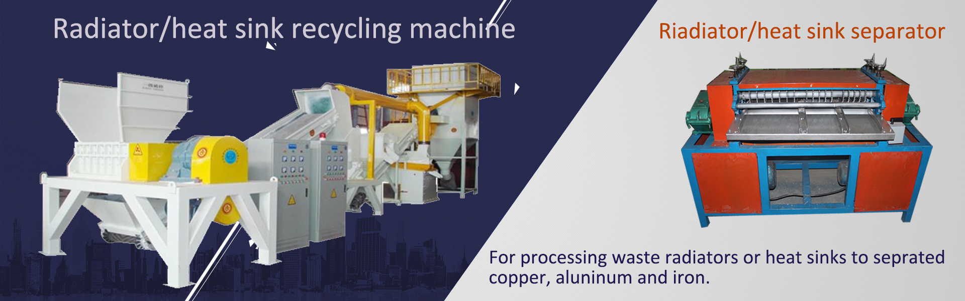 Aluminum plastic separating machine