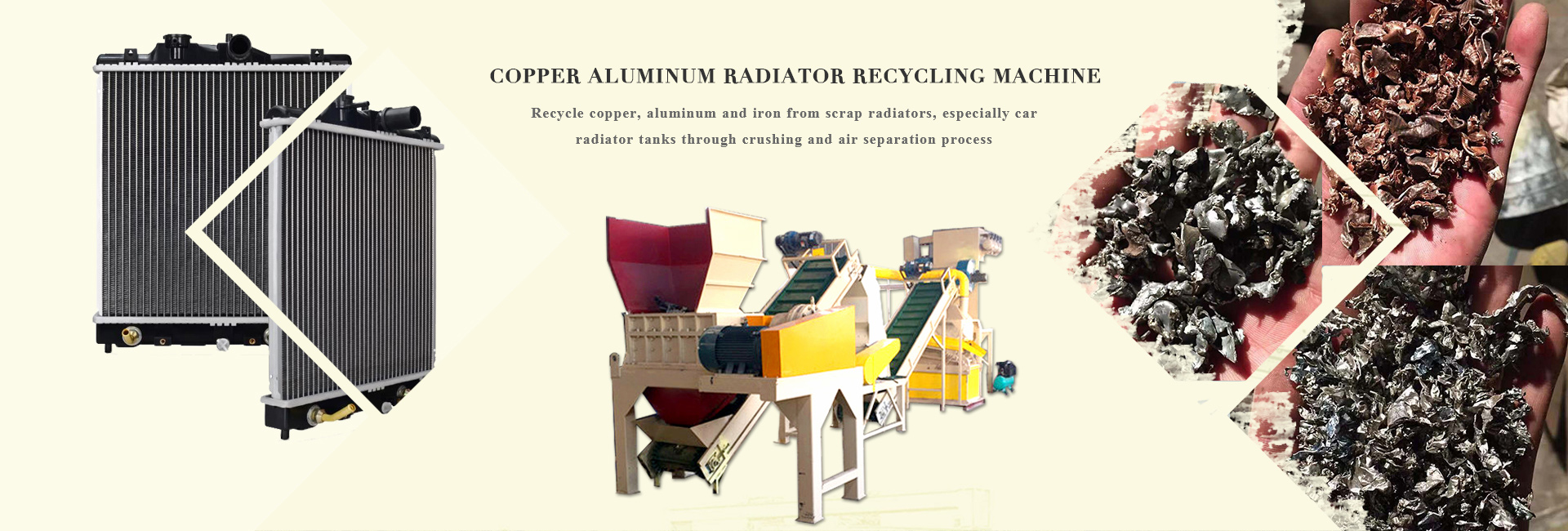 aluminum copper radiator recycling machine