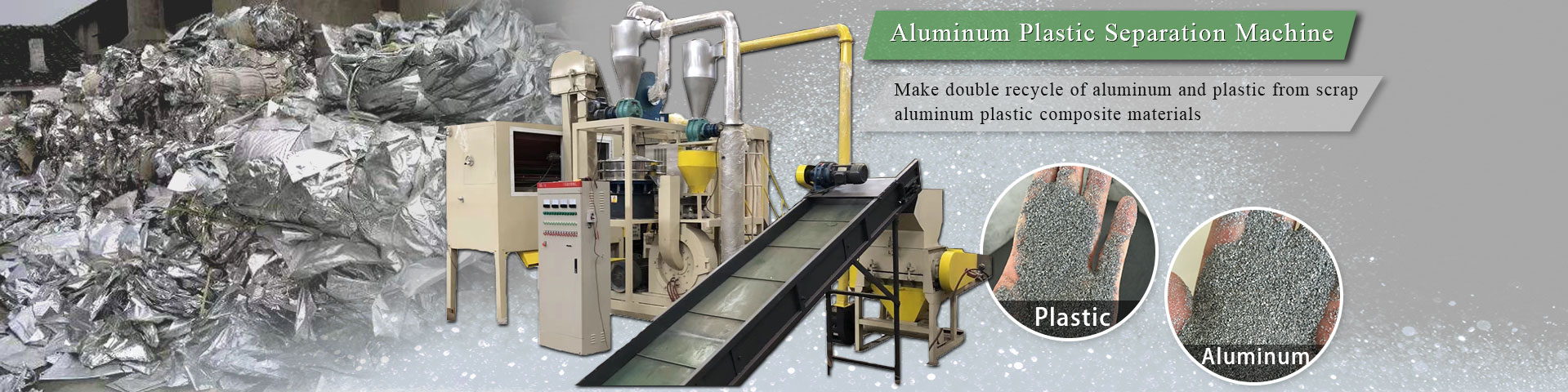 Aluminum plastic separation machine