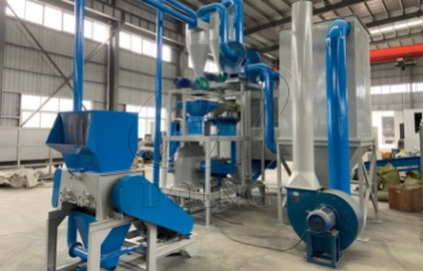 Plastic and aluminum recycling machine