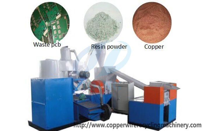 PCB recycling process waste circuit board machine