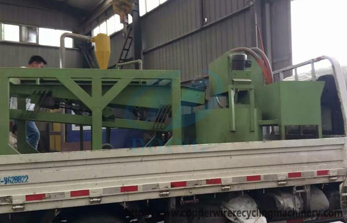 The England customer buy copper wire recycling machine from Doing company