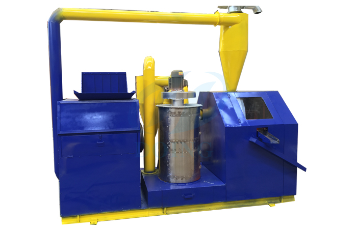 Integrated copper wire recycling machine