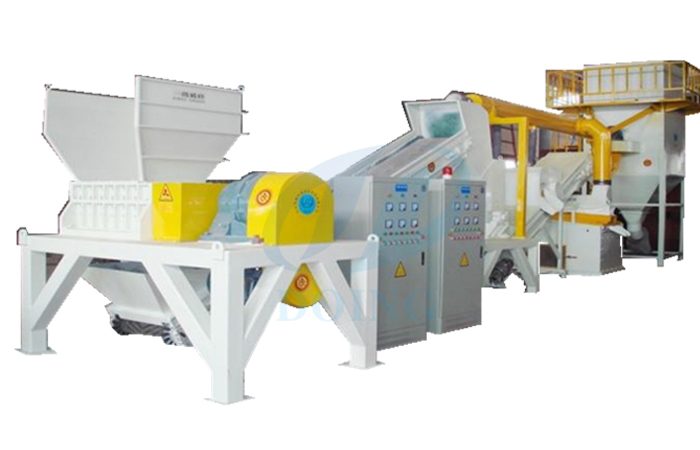 Radiator/heat sink recycling machine