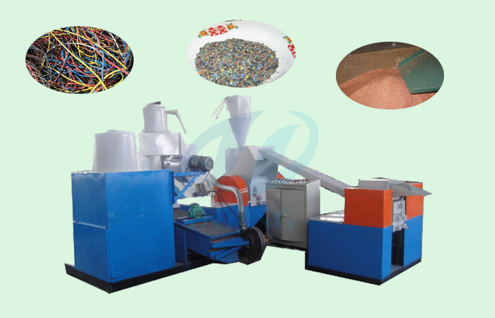 Working process of scrap copper cable recycling  machine