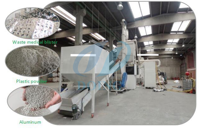Aluminum plate recycling machine