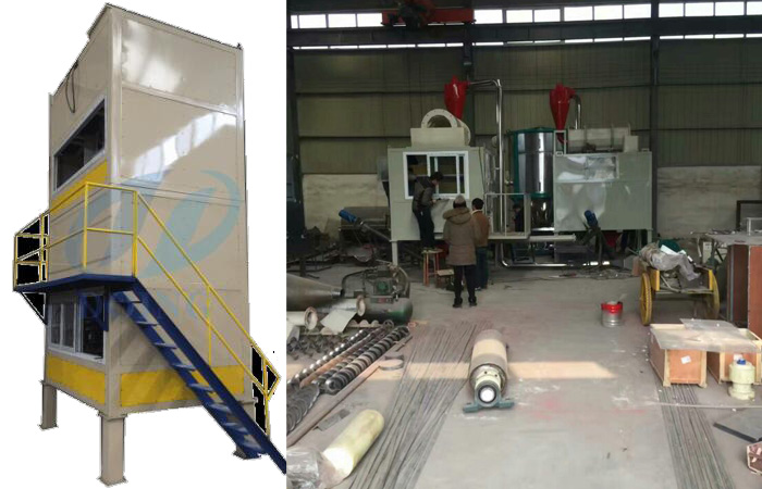 Mixing plastic separation equipment debugging before shipment