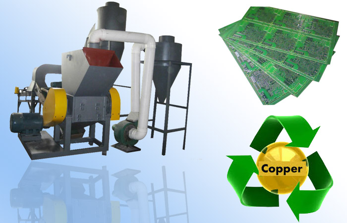 The physical method of pcb circuit board recycling machine ?
