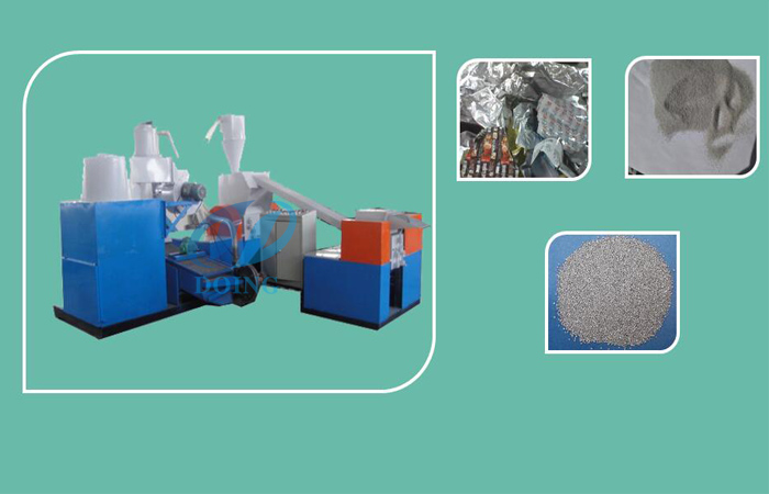 Aluminum recycling processs machine