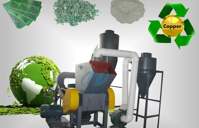 Circuit board recycling plant for cash