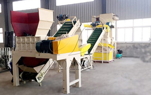 What's the process of radiator recycling machine?