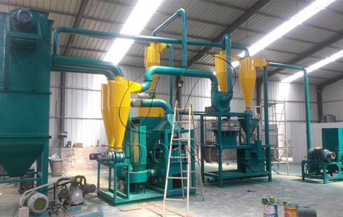 PCB board recycling machine being debugged in Hebei, China