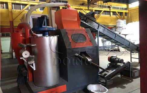 Scrap copper wire granulator machine installed in Singapore