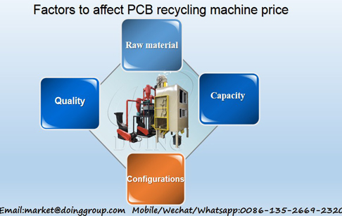 Factors to affect PCB recycling machine price