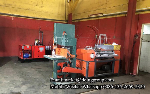 One set stripping type radiator separator machine successfully put into production in Singapore