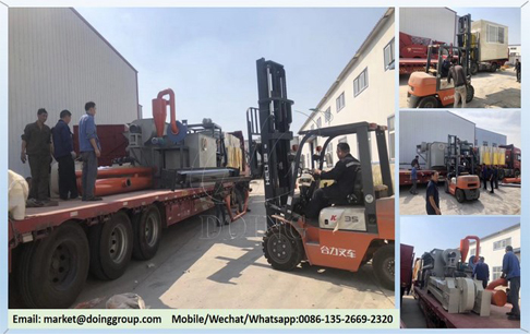 One set aluminum plastic separation machine will be delivered to shandong, China