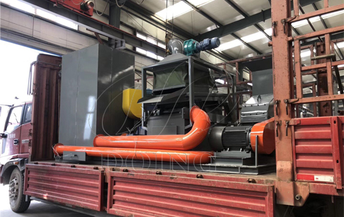 One set copper aluminum radiator recycling machine will be delivered to Guangxi, China