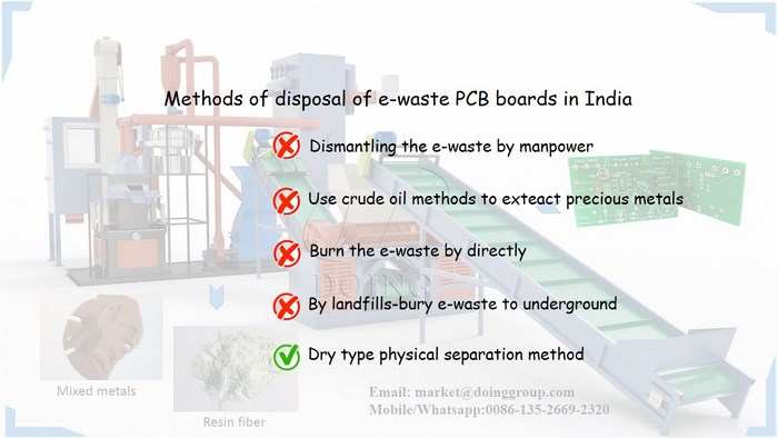 methods of disposal of e-waste PCB boards