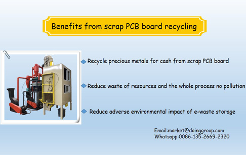What are the benefits from scrap PCB board recycling?