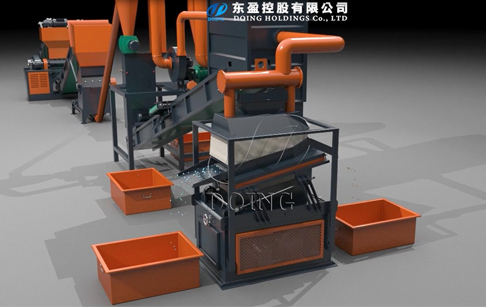 3D video of copper aluminum radiator recycling machine running process