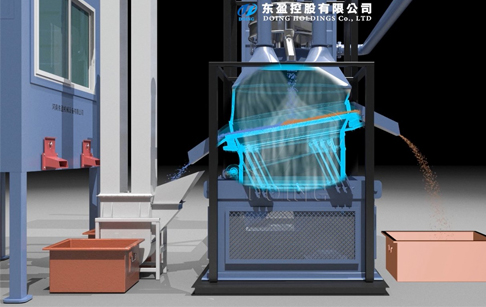 3D video of PCB recycling machine running process