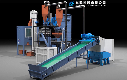 Aluminum plastic separation machine working flow 3D video