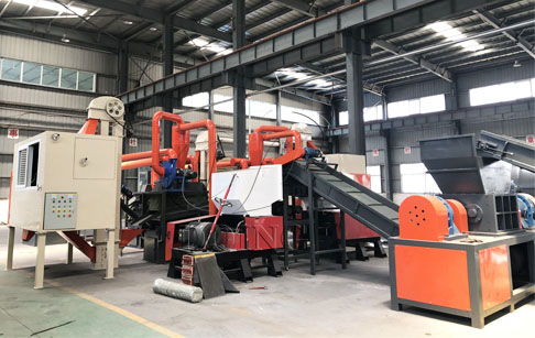 1T/H copper wire recycling machine is ready to ship to America