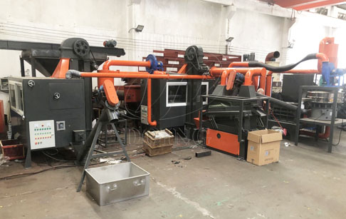 One set PCB board recycling machine ordered by Hong Kong customer was put into production