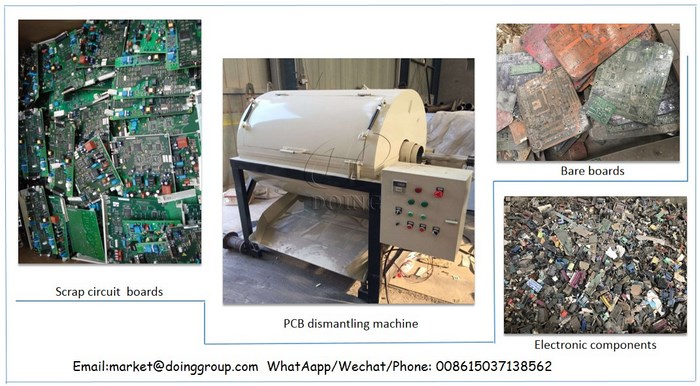 PCB circuit board recycling machine