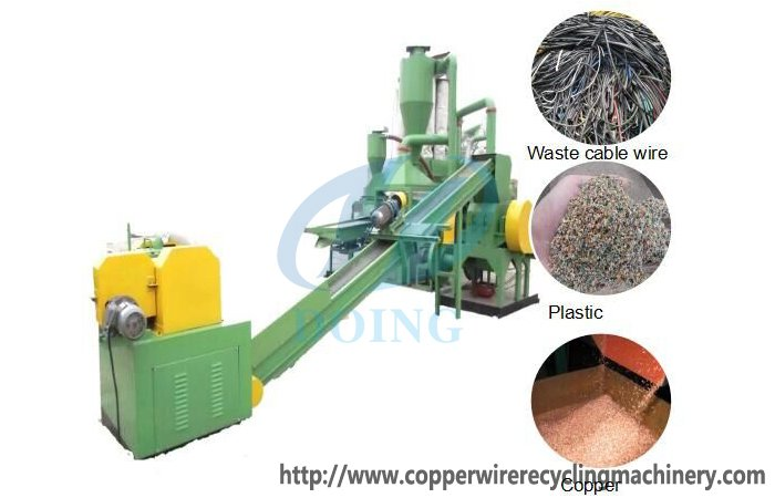 Copper recycling process machine|Copper cable wire recycling machine|